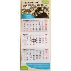 """Kalendarz trójdzielny 2018 """"Towarzyszyć jak Jezus"""""""