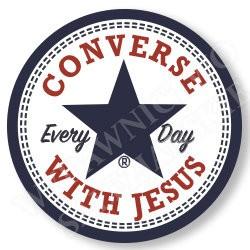 Converse with Jesus (przypinka)
